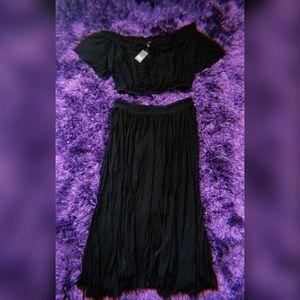Plus Size 2 piece maxi dress set